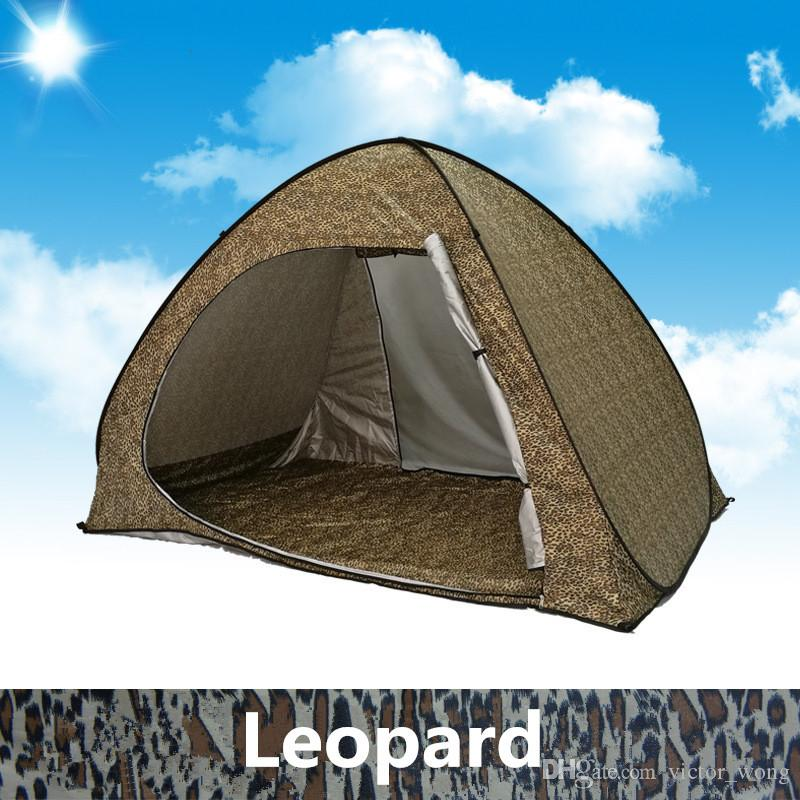 Summer Tent Family Tents for Camping Quick Automatic Opening Tents Outdoors UV Protection SPF 50+ Tent for Beach Travel Lawn 2-3 People