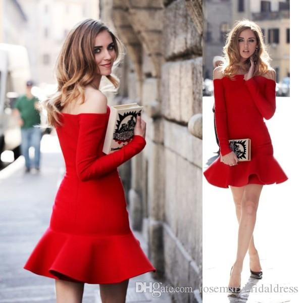 Evening Red Dresses Casual