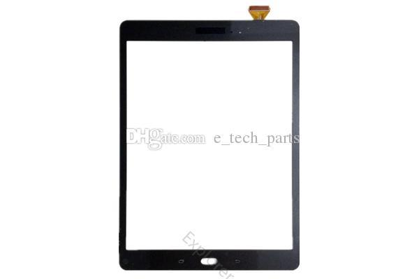 logo ücretsiz araçlarla Samsung Galaxy Tab A 9.7 T550 T551 T555 için bant ile Ekran Digitizer Cam Lens dokunun