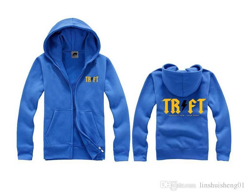 Мода бесплатная доставка Trukfit Толстовки и толстовки для мужчин серо-черные мужские толстовки пуловеры хип-хоп балахон