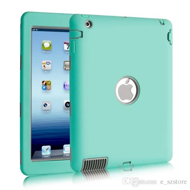 97dec5da3a For Apple IPad 2 IPad 3 IPad 4 Amor Shockproof Heavy Duty Rubber Hard Case  Cover W/Screen Protector Film+Stylus Pen China Handbag Cheap 7 Tablet Cases  From ...