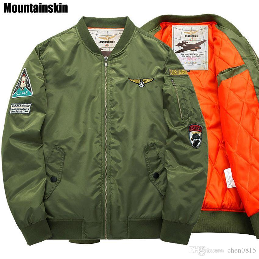 72df0d5ce5cf Mountainskin, 6XL Winter New Men's Pilot Jackets Casual Thick Warm Jacket  Army Soldier Male Parkas Fashion Brand Clothing,SA155