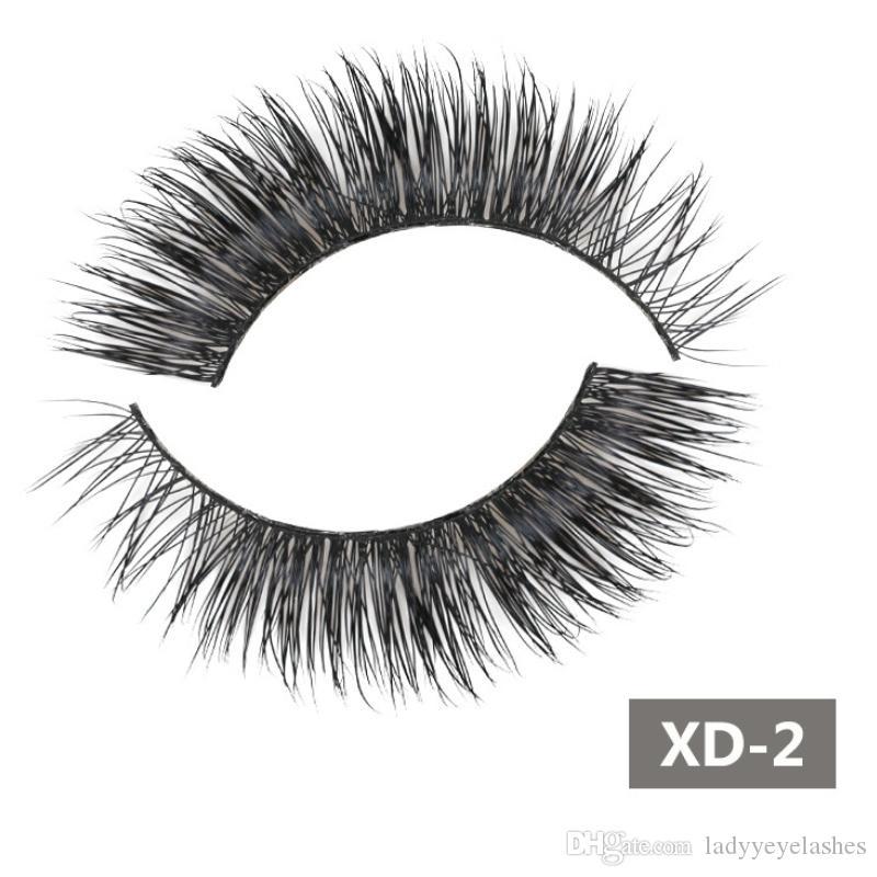False Eyelashes Handmade Natural Long Thick Mink hair Eyelashes Soft Fake Eye Lash extensions Black Terrier Full Strip Lashes
