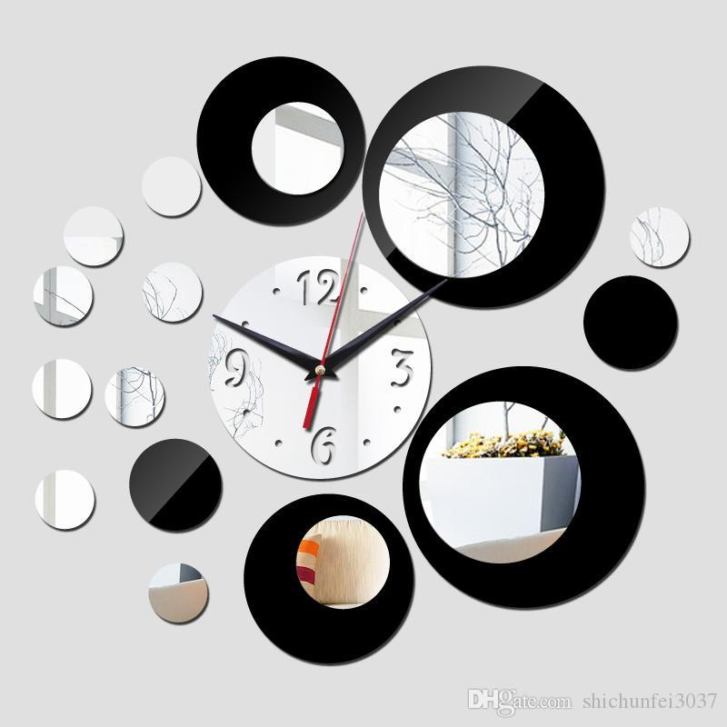 2016 New Wall Clock Modern Design 3d Clocks Quartz Watch Plastic