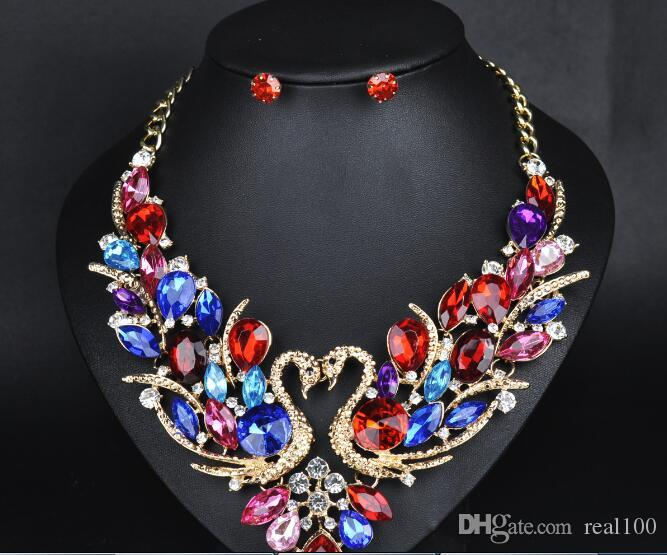fashion women neck chain including 2 rings 2017 hot sale trend statement short chokers fashion necklace suits B959