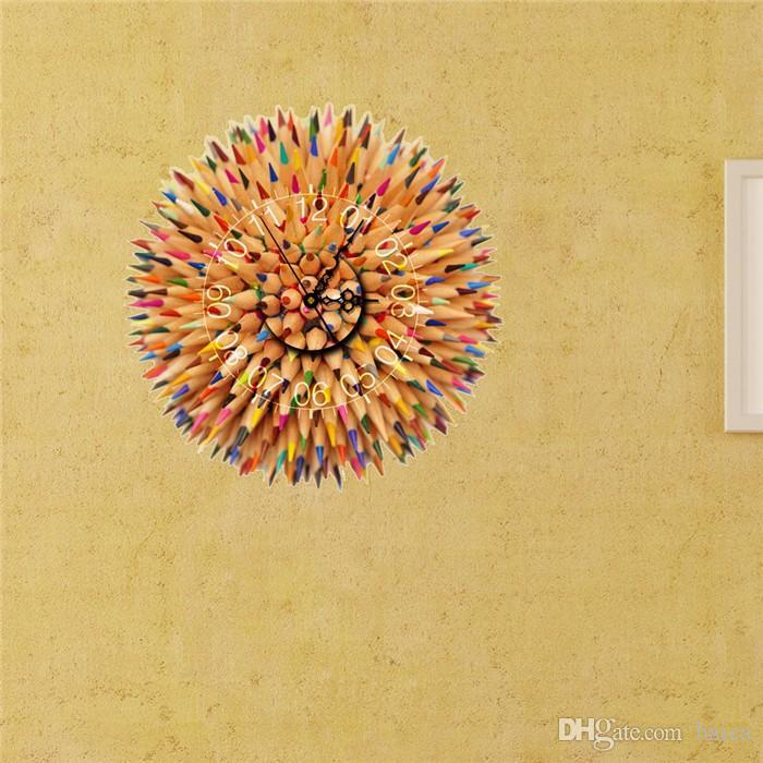 Pag Sticker 3d Wall Clock Decals Pencil Ball Diy Wall Sticker ...