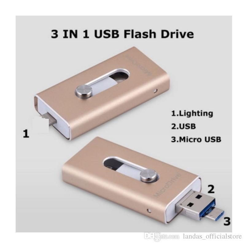 USB Flash Drive 16GB OTG Pen Drive External Storage Memory Stick 128gb 32gb 64gb Pendrive USB 2.0 U Disk