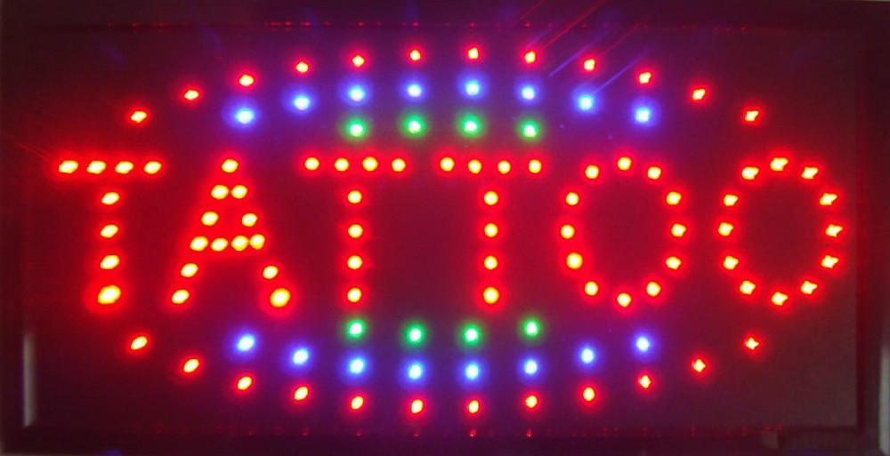 2017 Yeni gelen led ışık işaretleri led dövme dükkanı neon burcu sağlık dükkanı burcu toptan