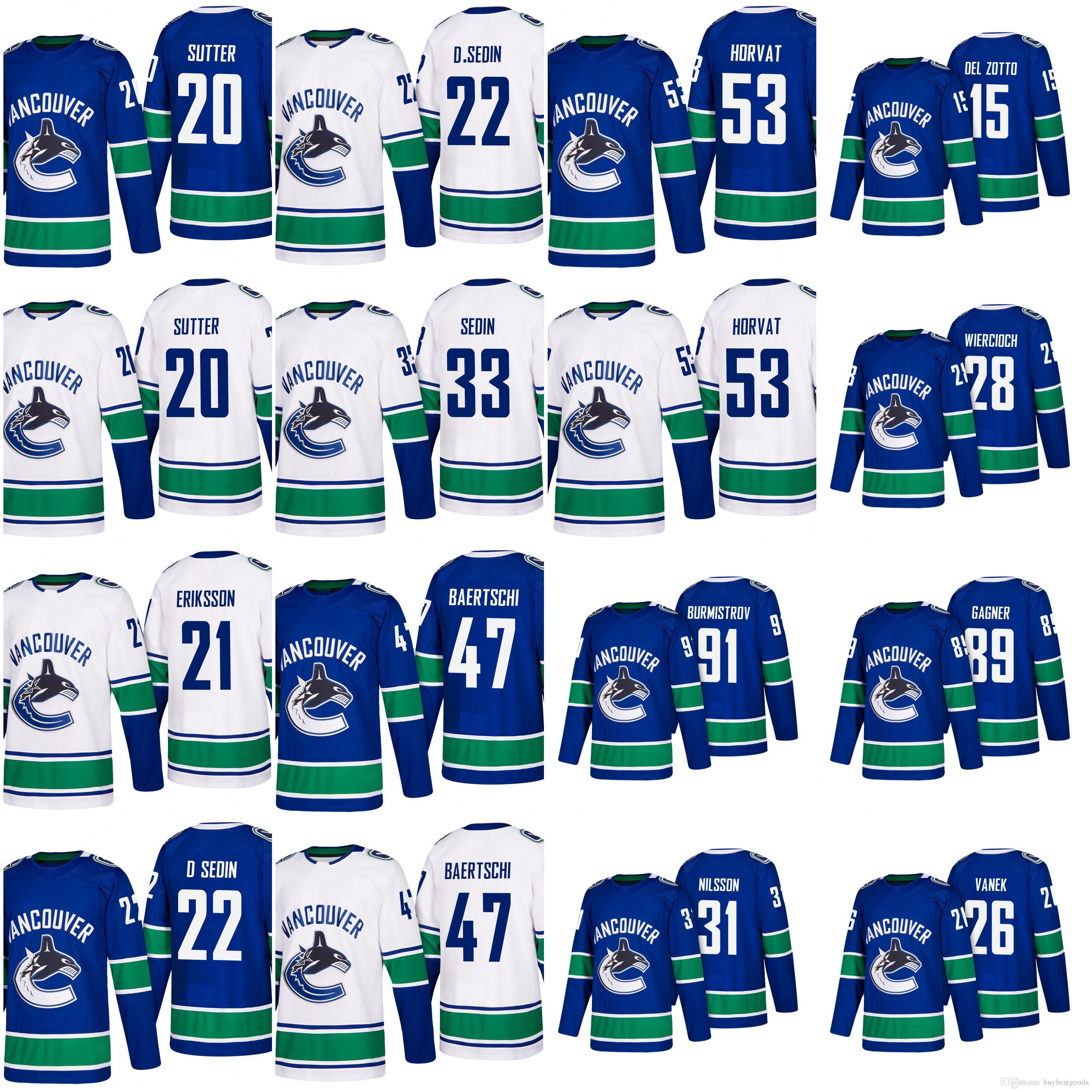 online cheap 2018 vancouver canucks hockey jerseys 22 daniel sedin 33 henrik sedin 53 bo horvat