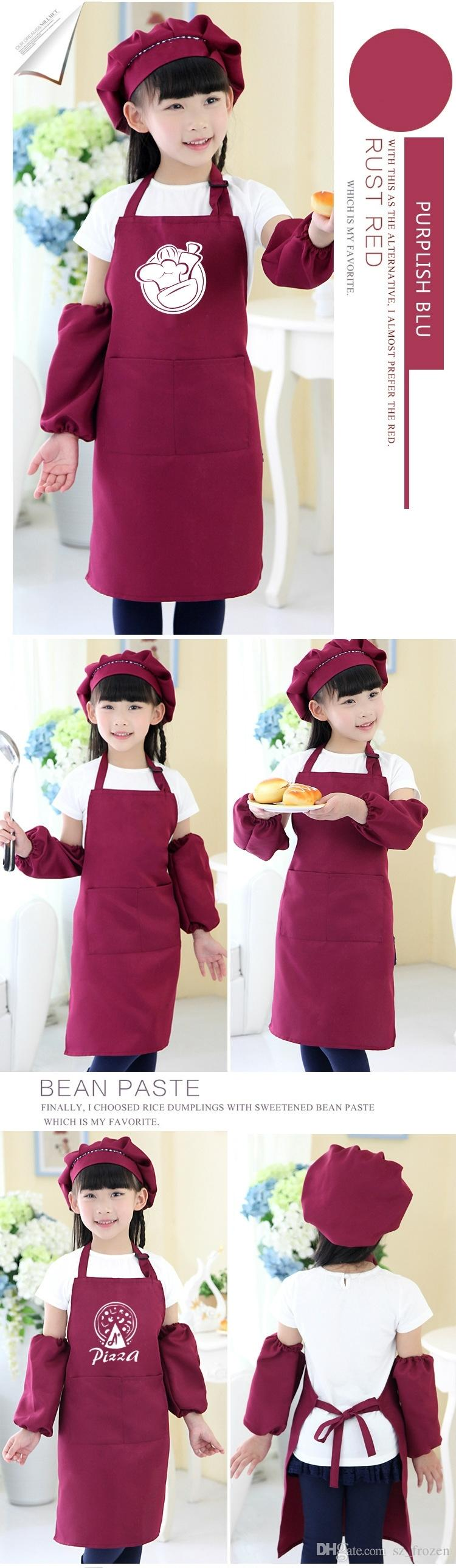 Kids Aprons Pocket Craft Cooking Baking Art Painting Kids Kitchen Dining Bib Children Aprons Kids Aprons A-0380