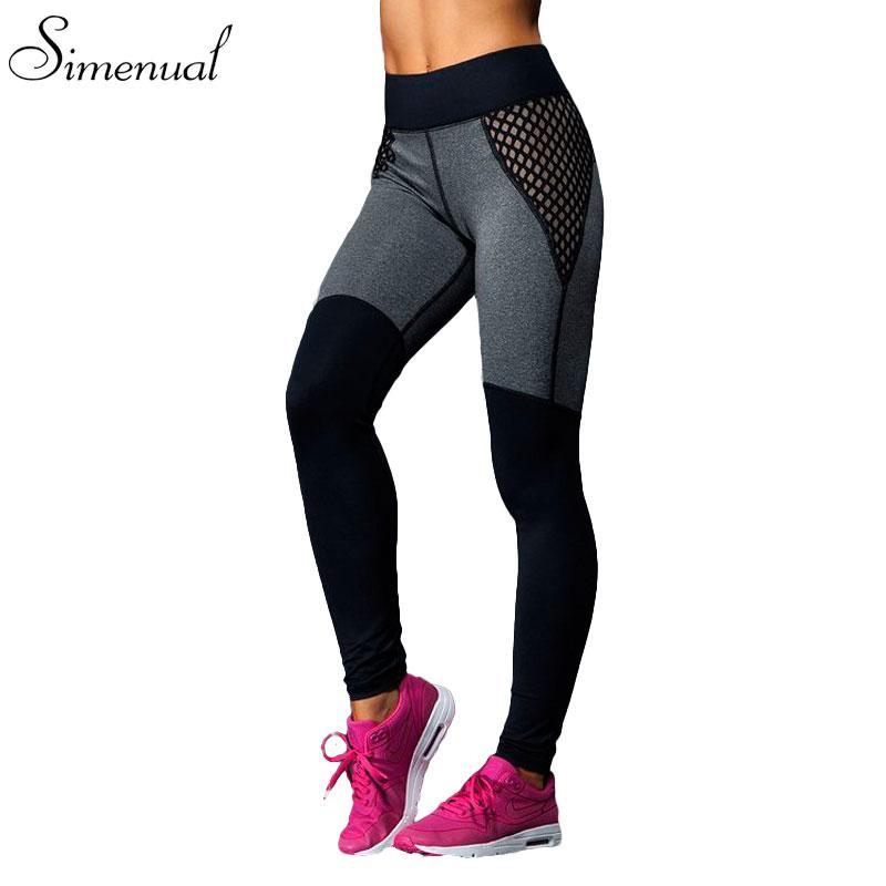 a9d1b150ef31d 2019 X201710 Hot Sale Mesh Splice Fitness Leggings Trousers For Women  Athleisure 2017 Jeggings Grey Black Slim Legging Pants Female Elastic From  Huang03, ...