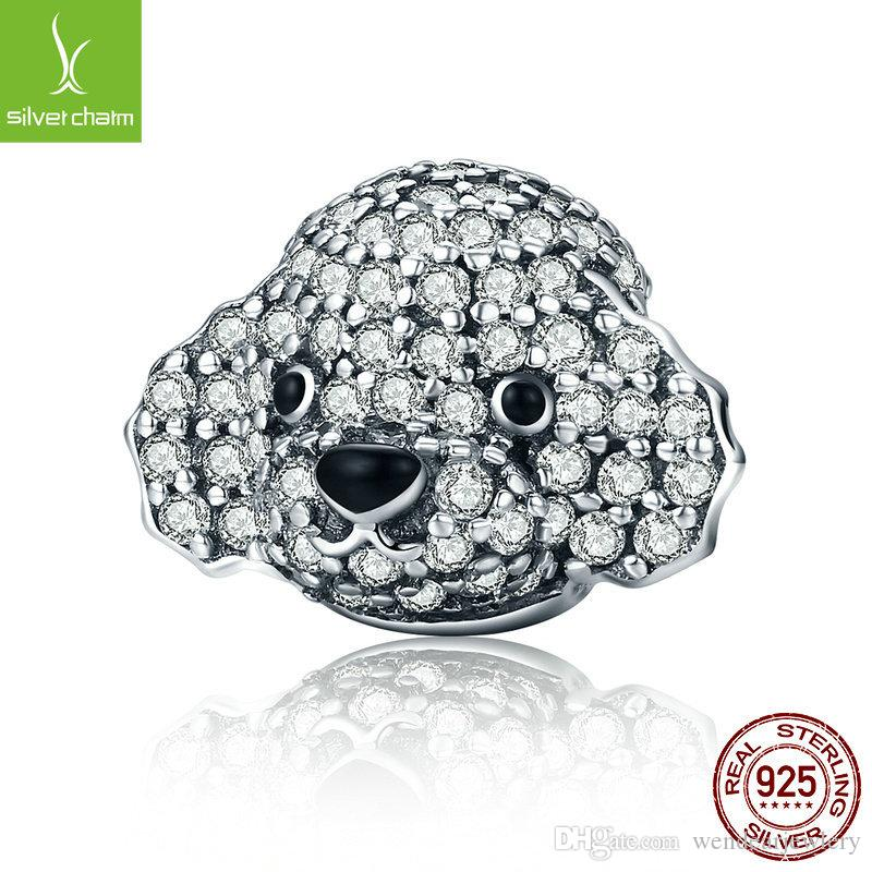 New Design 925 Sterling Silver Dazzling Poodle Lovely Teddy Bead Fit  Original Pandora Charm Bracelet Jewelry Gift CQC152 Online with   20.84 Piece on ... 905e239a98f4