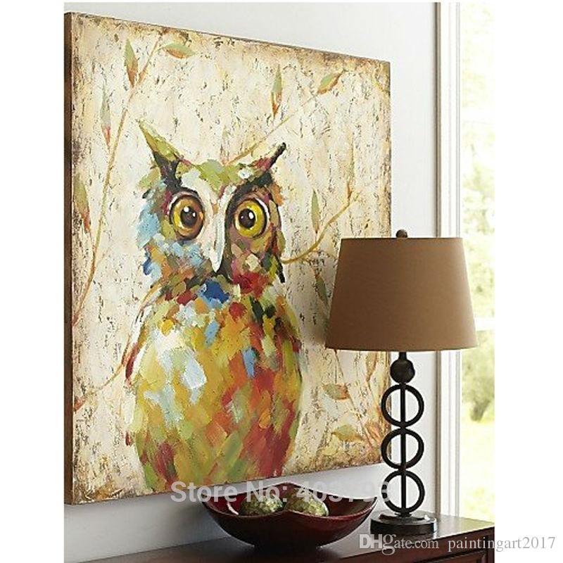 2016 Novo Design Bonito Night Owl Pintura A Óleo Moda Moderna Arte Da Parede na Lona Decorativa Pictures Home Decor Presente de Natal