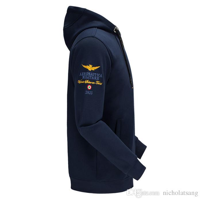 Los hombres de moda MA1 sudadera con capucha del diseñador Air Force One de algodón puro más el tamaño de béisbol ocasional Jersey para hombres piloto de terciopelo vuelo Jacekts M ~ 4XL