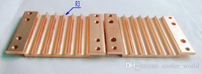 Bloque de cobre del fullerboard del heatpipe de la madera contrachapada del heatpipe de cobre 6 agujeros para el heatpipe del diámetro 6m m