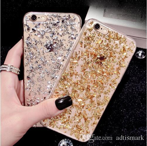 official photos 283ec 04480 Glitter Phone Case For Samsung Galaxy Note 8 Girl Soft Silicone TPU Case  For Samsung Galaxy S6 S7 Edge S8 Plus A3 A5 2017 Cover