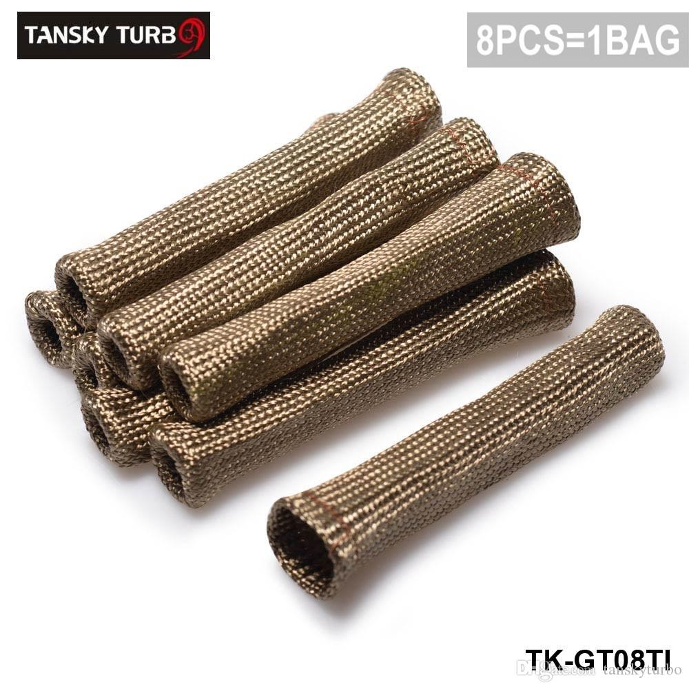 Tansky - Titanium Vulcan Lava Protector Sleeve Spark Plug Drut Buty 8 CYL TK-GT08TI W magazynie