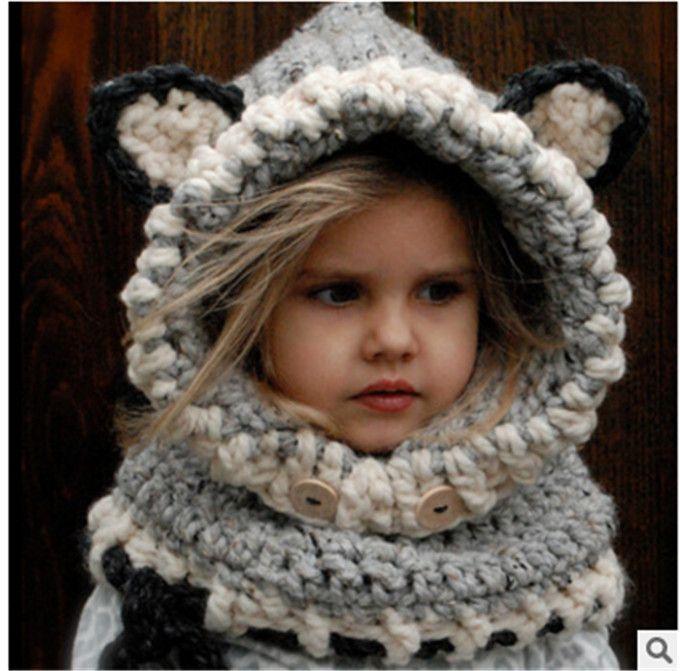 Großhandel Winter Warme Windproof Hut Babies Cartoon Nette Kappe ...