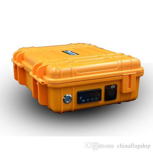 Portable Kit Nail Box E digitale con il nuovo aggiornamento Ti / QTZ riscaldatore chiodo ibrido Fit bobine di combustione della cera dell'olio DHL