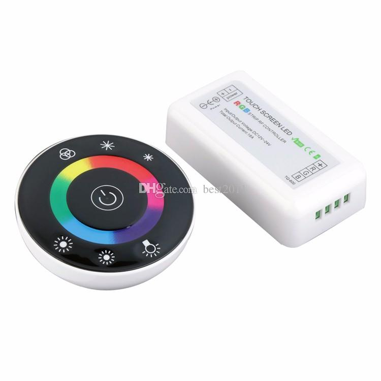 Round Led Touch RGB controller 18A Wireless LED ball Controller RF Touch Panel LED Dimmer RGB Remote Controller for RGB strip
