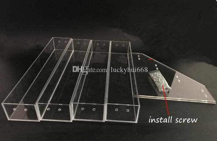 3 Tiers New Promotion Makeup Cosmetic Display Stand Clear Acrylic Organizer Mac Lipstick Jewelry Display Holder Lipstick Nail Polish Rack