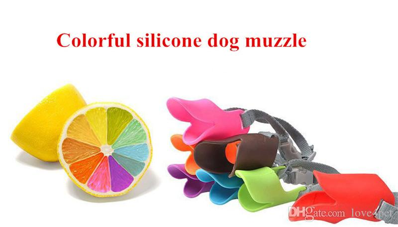 D22 brand new colorful Adjustable Silicone dog Muzzle Prevent dog barking Size S for small dogs