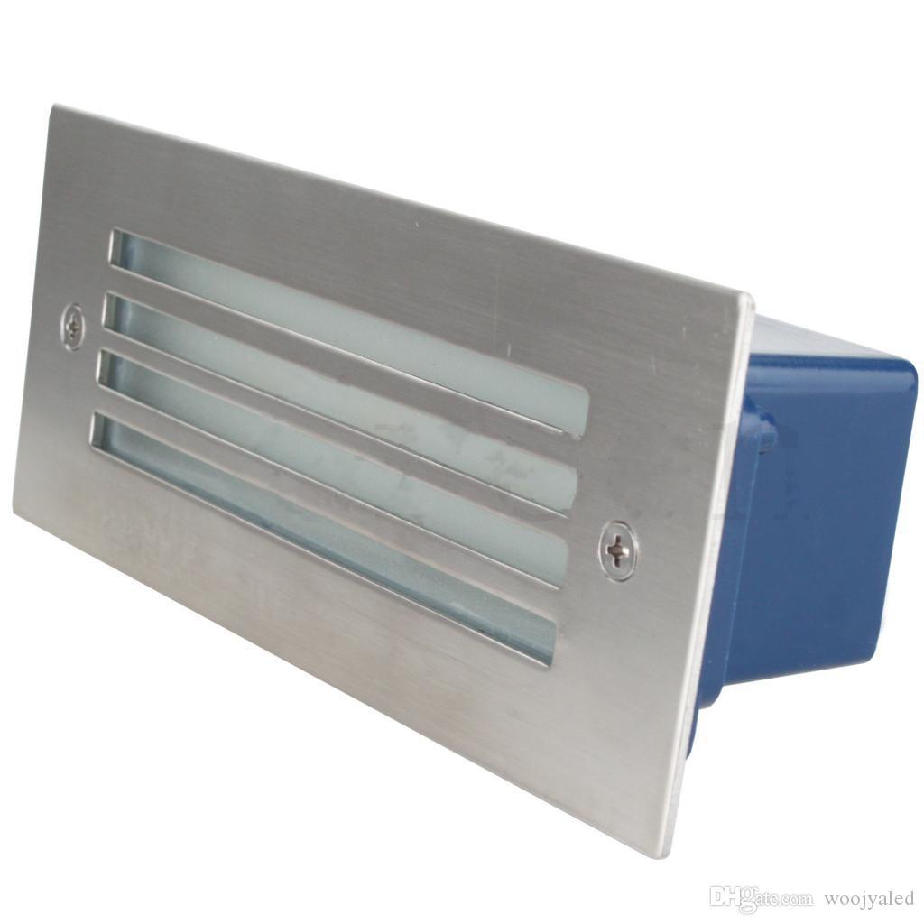 Ücretsiz kargo Açık / Kapalı IP65 led yol ışıkları 3 W 85-265 v led Duvar lambası su geçirmez bahçe plaza merdiven Yeraltı aydınlatma için