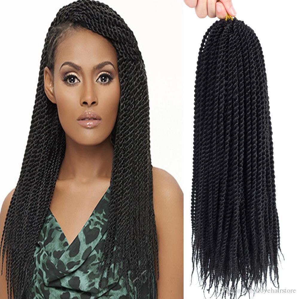 2019 22 Senegalese Twist Crochet Hair Braids Small Havana