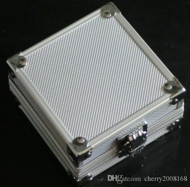 Alloy Aluminum Silver Case Box For Tattoo Gun Machines Supply kit