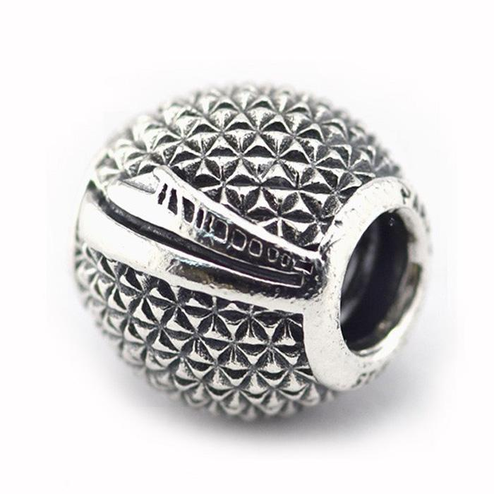 6d9c17a9b Epcot Spaceship Earth Charm 100% 925 Sterling Silver Bead Fit ...