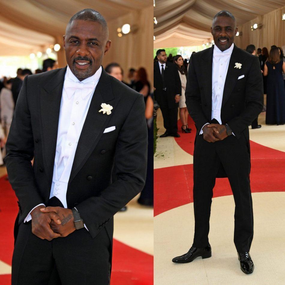 Met Ball Groom Tailcoat Slim Fit Black Dos Piezas Hombres Formales Traje de Alta Calidad Hombres Custom Hombres Juegos De Boda