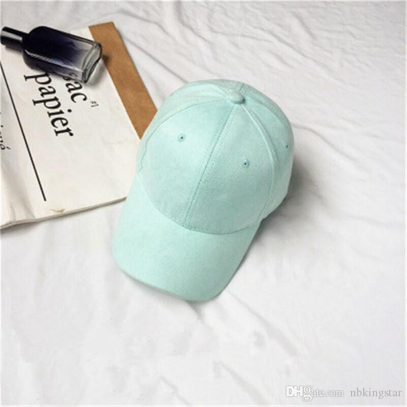 Fashion Unisex Suede Solid Baseball Cap Curved Brim Snapback Hats Hip Hop Caps Golf Hats For Women And Men