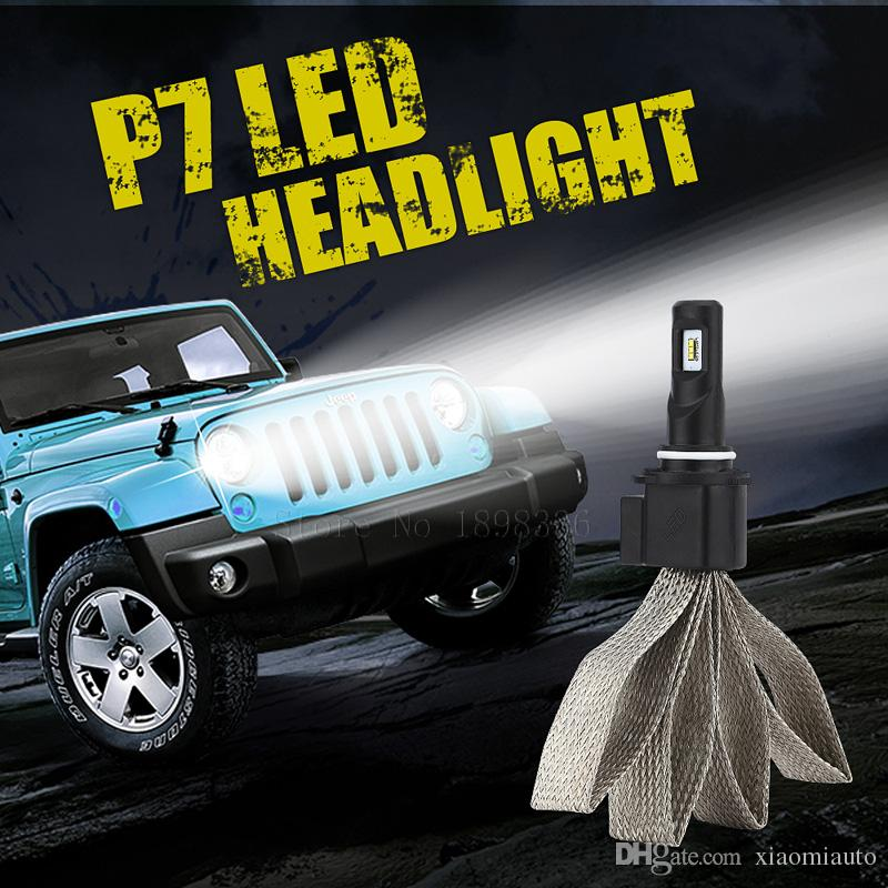 P7 9006 Car Led Headlight kit Fog Light High Power Auto High Low 30W 4800LM White 6000K Headlamp with Fan and Driver