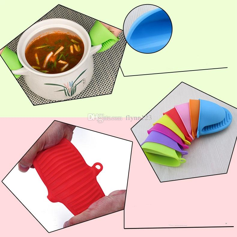 Heat Resistant Silicone Oven Mitts Cooking Pinch Mitts Mini Gloves Cooking Pinch Grips Pot Holder and Potholder for Kitchen Baking Tools