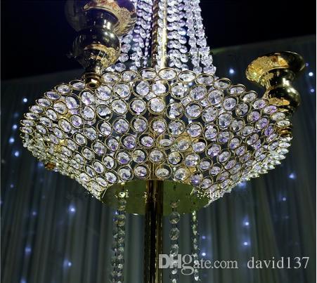 5 Kafaları şerit demir mumluk Çiçek Standı, dekorasyon için uzun kristal şamdanlar
