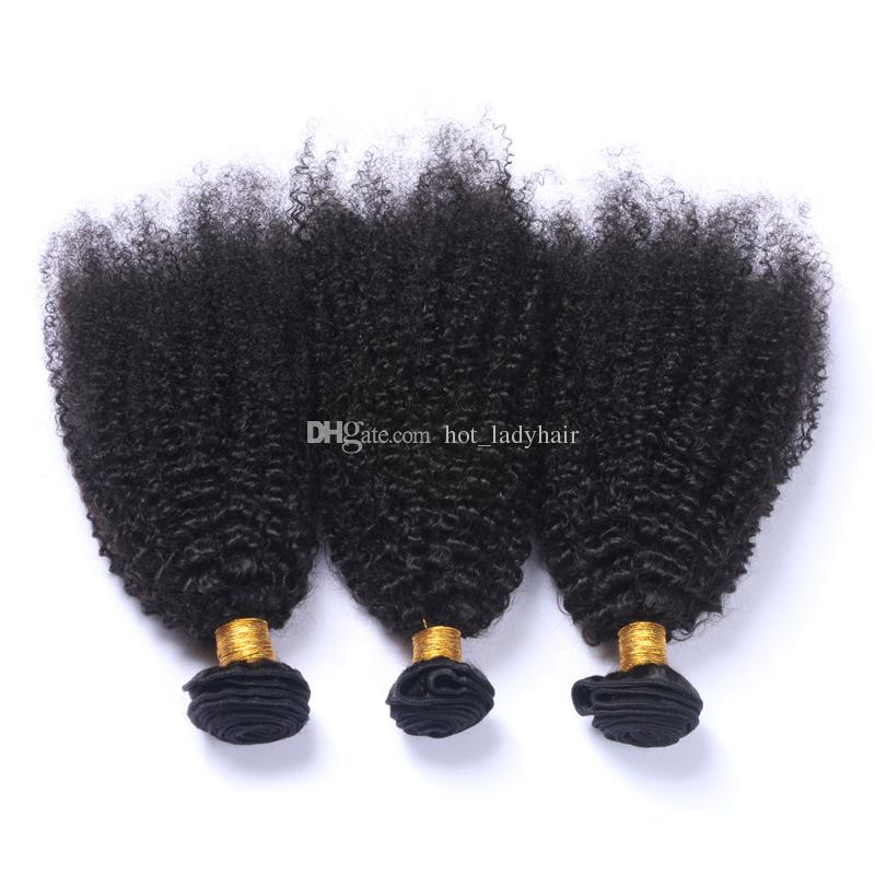 Unprocessed Peruvian Afro Kinky Curly Hair With Closure Kinky Curly Virgin Hair With Closure Peruvian Curly Human Hair Weaving