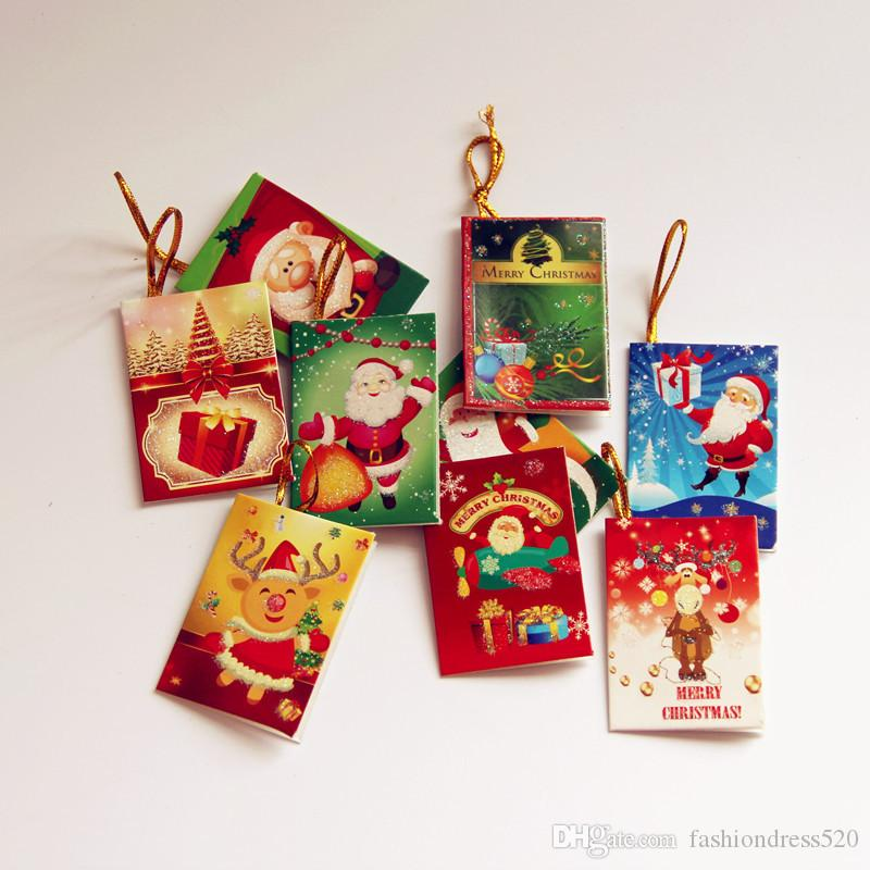 Christmas tree hanging card mini christmas cards christmas christmas tree hanging card mini christmas cards christmas decorations creative gifts xmas tree leave message cards buy electronic gift cards gift debit negle Images