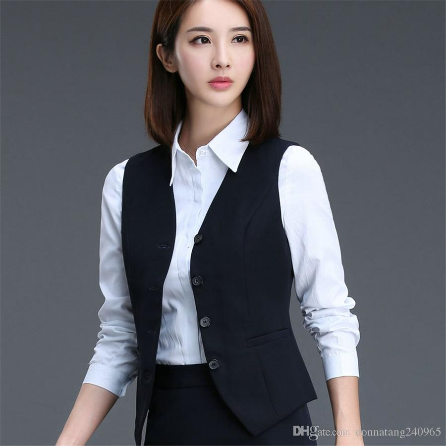 2018 2017 Fashion Business Career Ladies Vest Work Wear Uniforms ...