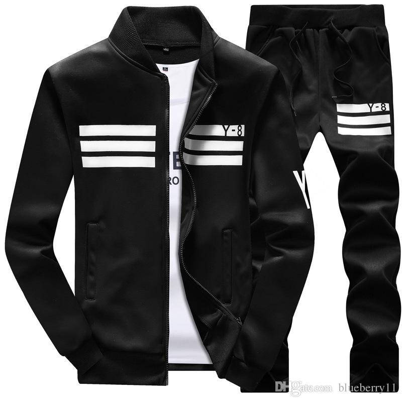 Uomo Sportswear Felpa con cappuccio e felpe Nero Bianco Autunno Inverno Jogger Tuta sportiva Uomo Tute felpate Tute Set Taglie M-4XL