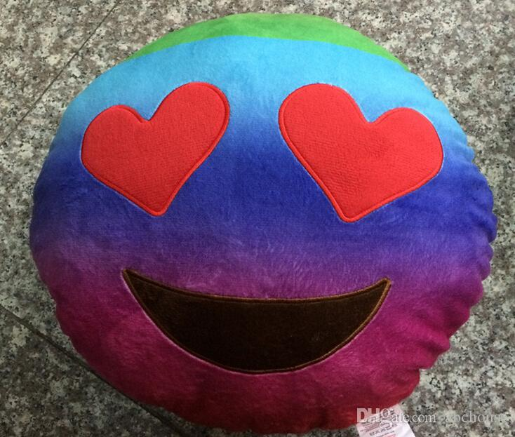 35cm emoji plush toys Pillow Cushion cartoon 14 inches Poop Stuffed Animals Pillows dolls crown pink rainbow color /