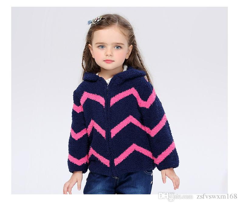 Boys And Girls Fall And Winter 1 6 Year Old Thickening Out Clothing Long  Sleeved Zipper Cardigan Comfortable Plush Warmth Jacket Free Childrens  Cardigan ... e1671eddd