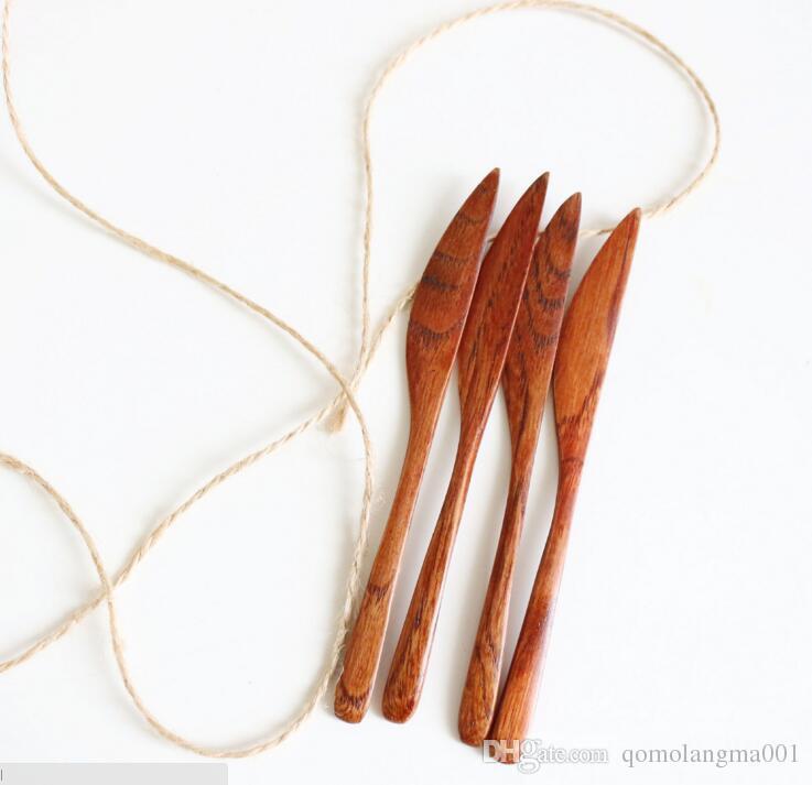 Chinesische Art hölzerne Marmelade Butter Spachtel Butter Salat Dressing Messer Große Farbe Farbe Holz Küchenwerkzeug