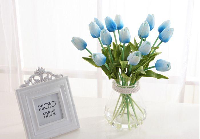 50 قطع اللاتكس الزنبق الاصطناعي بو زهرة باقة ريال اللمس الزهور للديكور المنزل الزفاف الزخرفية الزهور 11 الألوان الخيار