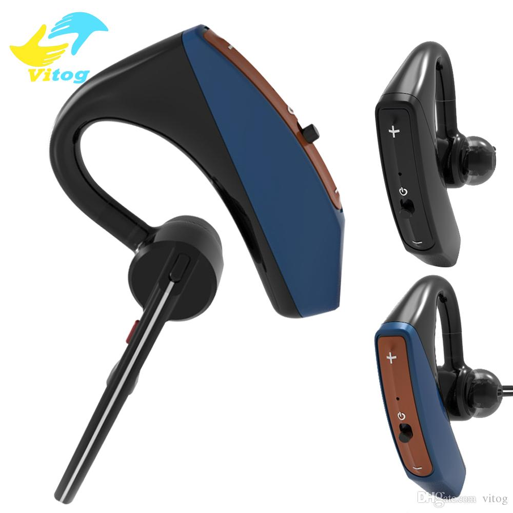 Handsfree Business Bluetooth Headset With Mic Voice: V15 Business Bluetooth Headset Wireless Handsfree Office