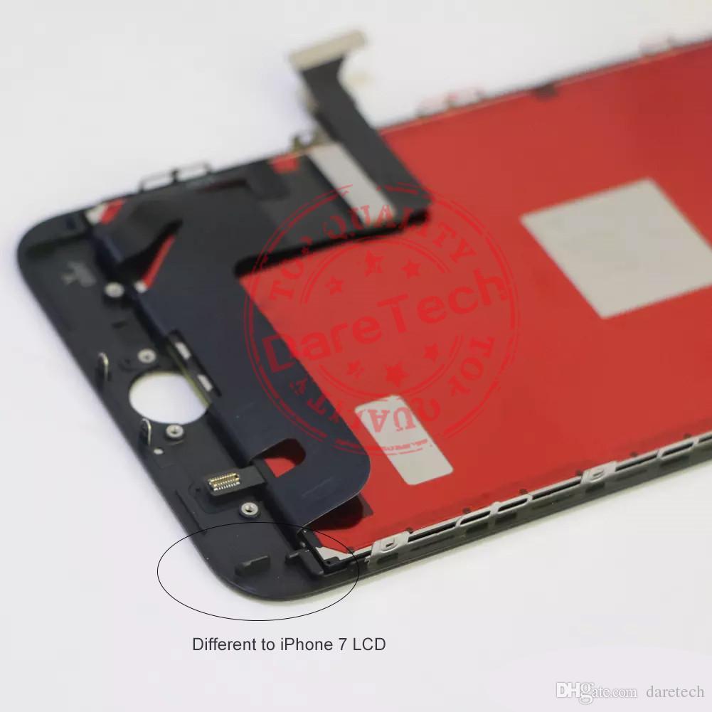 Für Schwarzweiss-Qualität iPhone 8 8 plus LCD-Anzeigen-Touch Screen Digitizer-Versammlung DHL-Verschiffen