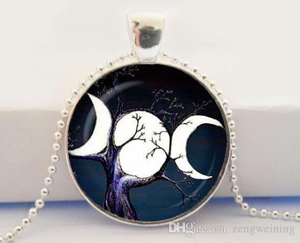 Wholesale triple moon goddess pendant triple moon goddess necklace wholesale triple moon goddess pendant triple moon goddess necklace silver plated pendant triple moon goddess jewelry silver bracelets silver chain from aloadofball Image collections