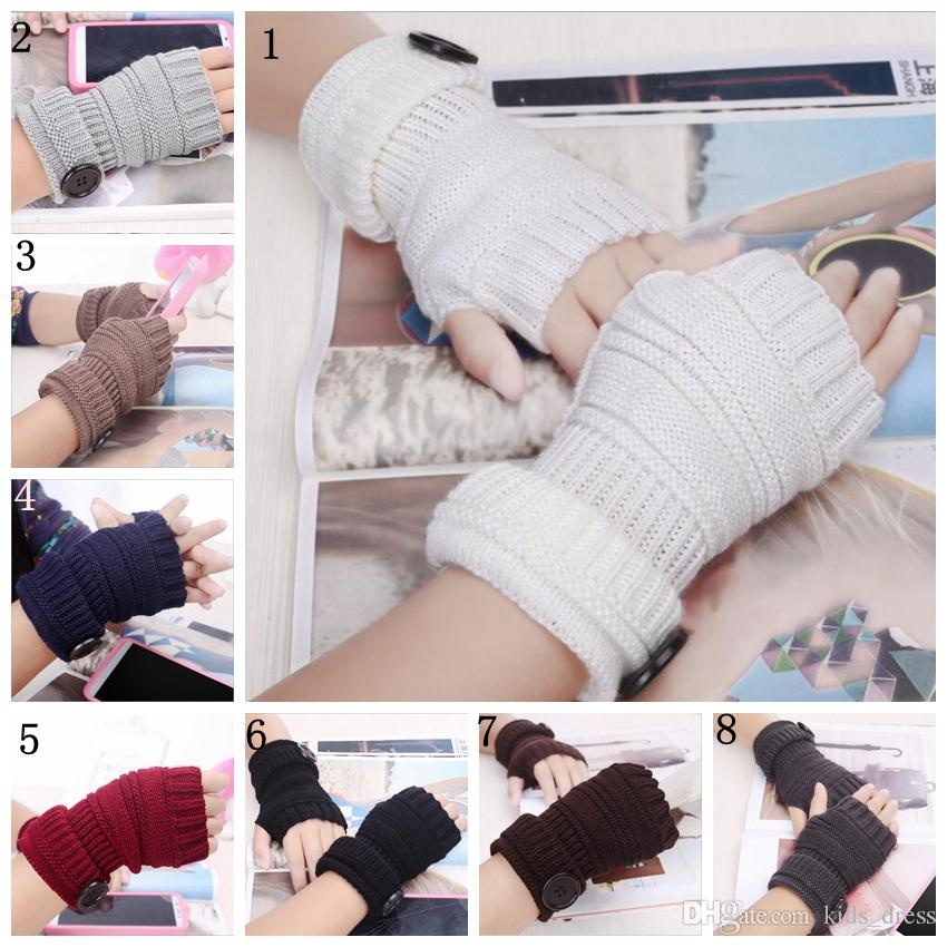 Women\'s Knit-Free Gloves Adult Women\'s Fall Wrist Solid Color Glove ...