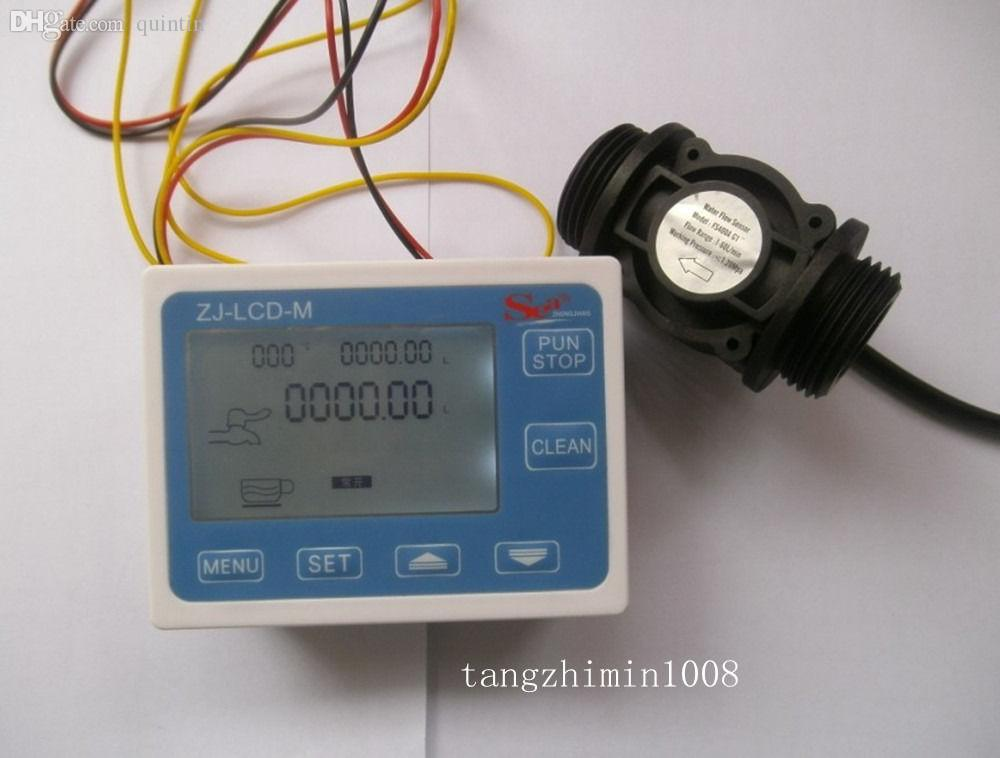 Wholesale-G1 Flow Water Sensor Meter+Digital LCD Display ...