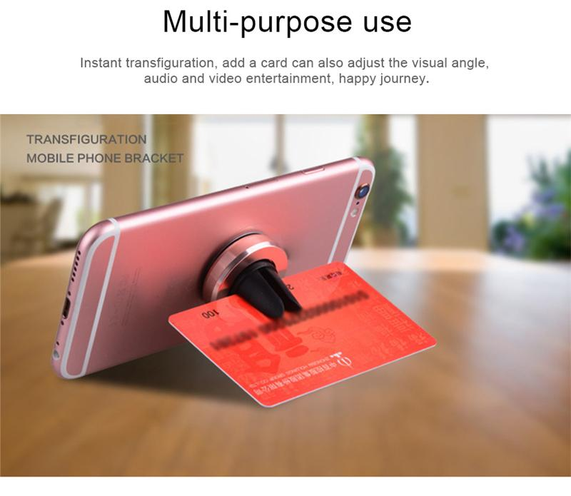 Support de téléphone portable magnétique universel pour iPhone 7 6 support de voiture magnétique Samsung S8