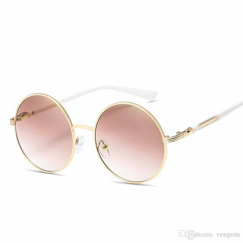 24fb4f0ac1 New Oversized Retro Round Sunglasses Women Brand Designer Vintage ...
